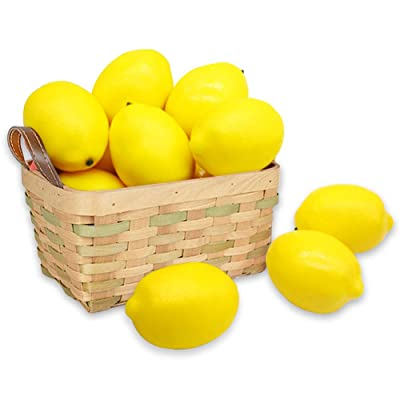 BigOtters 12pcs Fake Lemons,Faux Lemon Plastic ...