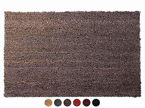 Primaflor - Ideen in Textil Kokosmatte Fußabtreter rutschfest Grau 50 x 80 cm - Fußmatte Kokos Fußabtreter rutschfest Haustür Innen & Außen, Sauberlauf