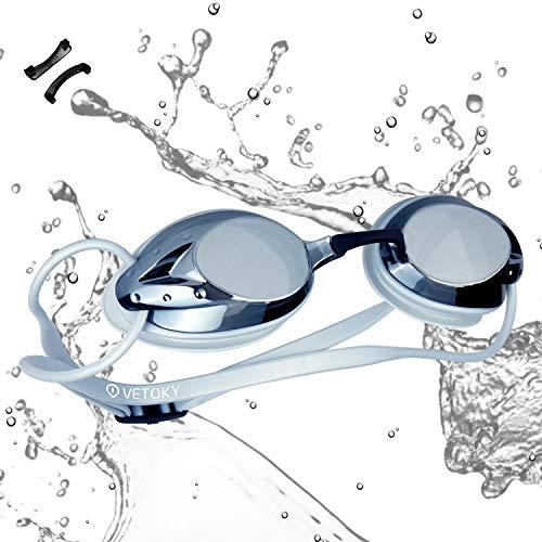 vetoky Schwimmbrille, Antibeschlag Schwimmbrillen UV Schutz Kein Auslaufen für Erwachsene Herren Damen und Kinder