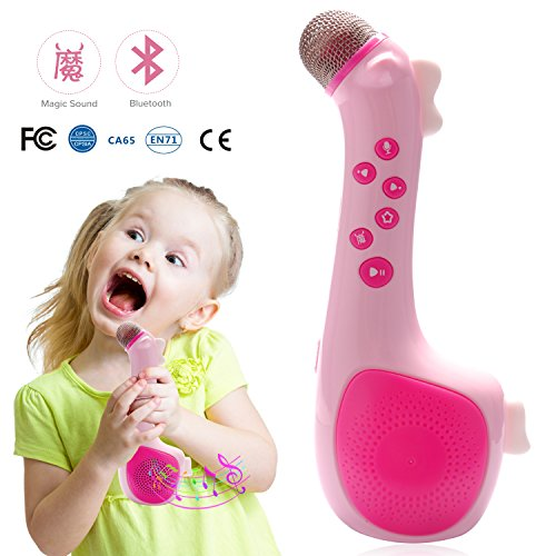 Kids Magic Microphone Speaker with Voice Changing and Recording by Termichy (Pink)