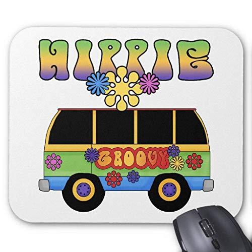 Muismat, Gaming Mouse Pad Grote Grootte 300x250x3mm Dikke Hippie Bus Verlengde Muis Pad Antislip Rubber