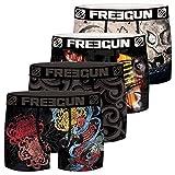 Freegun Tattoo - Juego de 4 calzoncillos para niño multicolor 14-16 años