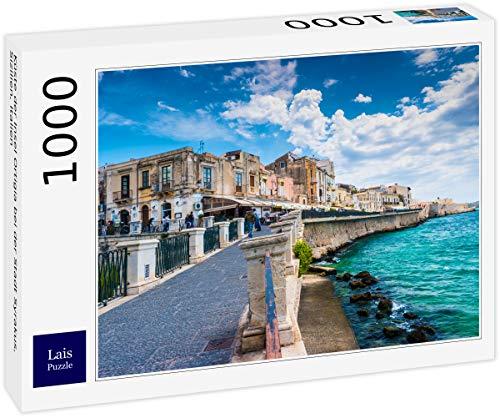 Lais Puzzle Costa dell'isola di Ortigia Vicino alla Città di Siracusa, Sicilia, Italia 1000 Pezzi