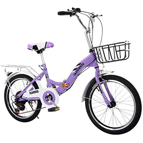 WEI MOLO@ 18 Inch Childs Lightweight Mini Removable Bike Small Protable Without Pedal Bike Purple