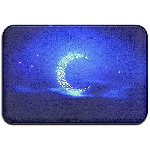 DaiMex Blue Crescent Moon Shape Painting buitenmat voordeurmatten ingangstapijt standaard tapijt