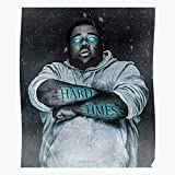 kineticards Heart Kevin Rod Glow Gates Hop Tattoo Singer Ice Rapper Wave On Hip | Home Decor Wall Art Print Poster