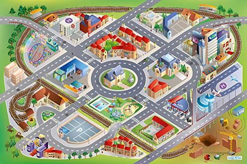 House of Kids 11220-E3 - Playmat Quadri District Connect, 100 x 150 cm