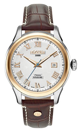 Roamer Herren Analog Automatik Uhr mit Leder Armband 545660 49 12 05