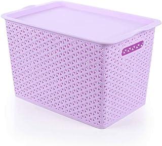 LQJin Boîte de Rangement en Plastique Couvercle en Plastique Boîte de Finition de Bureau de Jouets au détail Boîte de Rang...