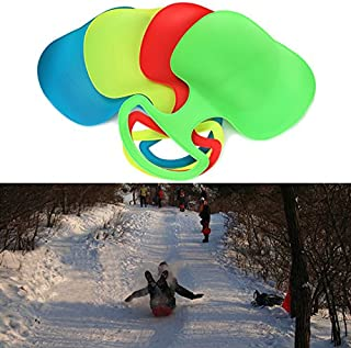 Outdoor Winter Plastic Skiing Boards Snow Grass Sand Board Ski Pad Snowboard Sled Luge For Kids/Adult - Blue