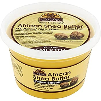 Okay Pure Naturals Shea Butter Yellow Smooth 16 oz  Pack of 2