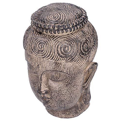 Tête de Bouddha Zen, Statue de tête de Bouddha thaïlandais Robuste, Salon pour étude de décoration de Bureau