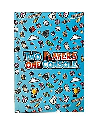DIARIO SCUOLA Seven two players one console azzurro 2021/2022 f.to pocket 16x11cm + omaggio portachiave gioco cubo e penna colorata
