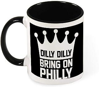 Dilly Dilly Bring On Philly Philadelphia Eagles Ceramic Coffee Mug Tea Mug,Gift for Women, Girls, Wife, Mom, Grandma,11 oz