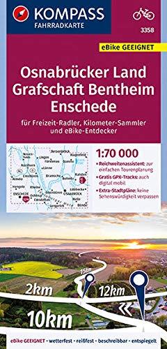 KOMPASS Fahrradkarte Wetterau, Vogelsberg, Marburg: reiß- und wetterfest mit Extra Stadtplänen (KOMPASS-Fahrradkarten Deutschland, Band 3359)