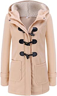 UOFOCO Long Sleeve Pullover Blouse Womens Warm Hooded Jacket Coat Long Outerwear