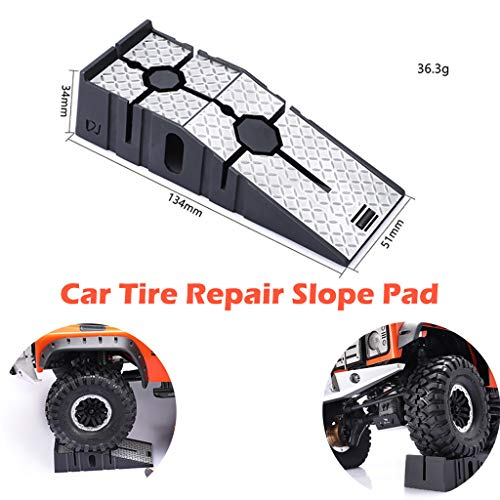 Find Discount HHoo88 Simulation Car Tire Repair Slope Pad Step Pad Holder for TRX4 RC Car Repair Too...