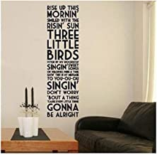 Homefulcomely PVC Wall Stickers English Proverbs Rise Up home decoration,Wallpaper99.1cm x27.9cm