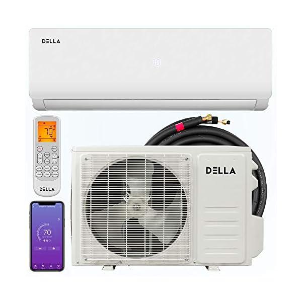 Della Mini Split Air Conditioner Ductless Inverter System with Heat Pump, WIFI Smart...