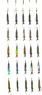 EatMyTackle Ballyhoo Teaser Strips - 5 Reflective Bait Fish Teasers (5 Pack)