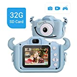 LYPULIGHT子供用 デジタルカメラ トイカメラ 子供プレゼント 子供カメラ 1600万画素 2.0インチ 多機能 USB充電 日本語説明書付き 子供の日 誕生日 知育 教育 男女兼用 (ブルー)