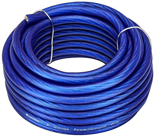 InstallGear 8 Gauge Blue 25ft Power/Ground Wire True Spec and Soft Touch Cable