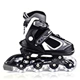 MammyGol Adjustable Inline Skates for Kids with Light up Wheels,Flashing Beginner Roller Skates