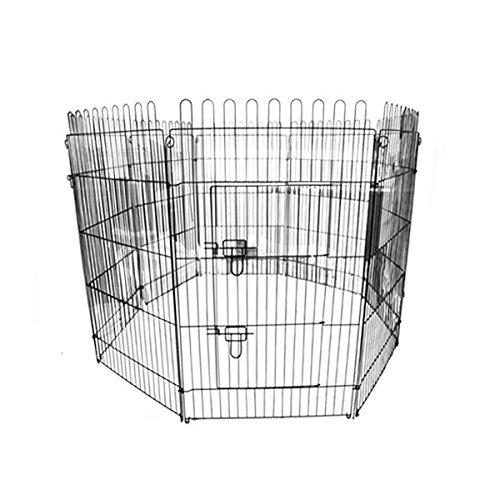 WEIMALL ペットサークル 折りたたみ 8面サークル 高さ108cm ペットケージ ペットフェンス ケージ ゲージ サークル トレーニングサークル 犬用ケージ 中型犬用 大型犬用 屋内用 屋外用 室内用 犬小屋 犬 ペット ペット用品