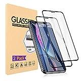【2枚セット】iPhone XR ガラスフイルム iPhone XR 強化ガラス【日本製素材旭硝子製】 9Dラウンドエッジ加工/業界最高硬度9H/高透過率/3D Touch対応/自動吸着/気泡ゼロ アイフォンXR ガラスフィルム アイフォンXR 全面保護 iPhone XR強化ガラス液晶保護フイルム 全面フイルムカバー 6.1インチ対応