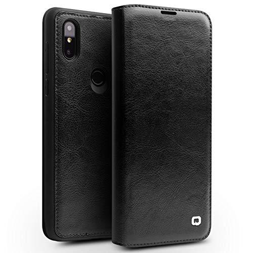 SHIEID® Xiaomi Mi Mix 3 Funda de Piel de Vaca Stand Función con Ranura para Tarjetas Flip Case Cover Caso para Xiaomi Mi Mix 3(Negro)
