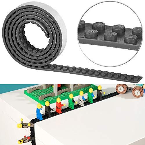 infactory Spielwaren: Selbstklebendes Spielbaustein-Tape für gängige Systeme, 1 m, schwarz (Bauspielzeuge)