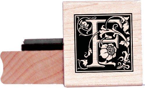 Tampon en caoutchouc alphabet - Lettre F à la William Morris