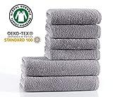 Seventex Reines Organisches Ägäis Baumwolle 6 Stück Handtuch Set