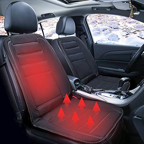 Heated Seat Cushion Cover - Winter Car Seat Covers - Non-slip Design, Intelligent Temperature Controller, Universal Fits - 12V Heated Car Seat Cover Cushion for Car Home Office Chair (A)