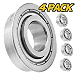 (4 Pack) HD Switch Front Wheel Bearings Replaces/Upgrades Bad Boy Mower MZ, Magnum, ZT, CZT, Compact Outlaw, Maverick, ZT Elite, Stand On with 5/8' Axles - Tough Steel Seals!