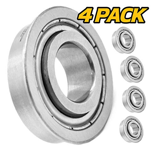"(4 Pack) HD Switch Front Wheel Bearings Replaces/Upgrades Bad Boy Mower MZ, Magnum, ZT, CZT, Compact Outlaw, Maverick, ZT Elite, Stand On with 5/8"" Axles - Tough Steel Seals!"