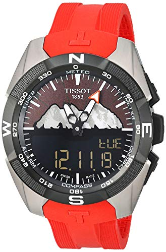 Tissot mens T-Touch Titanium Touchscreen Red T0914204705110