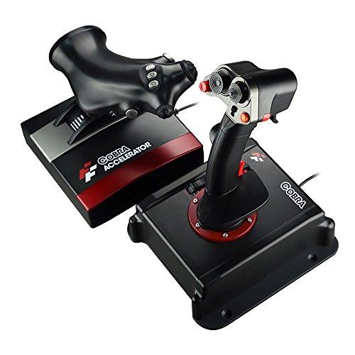 Flashfire Cobra V5 HOTAS Joystick Nero, Rosso