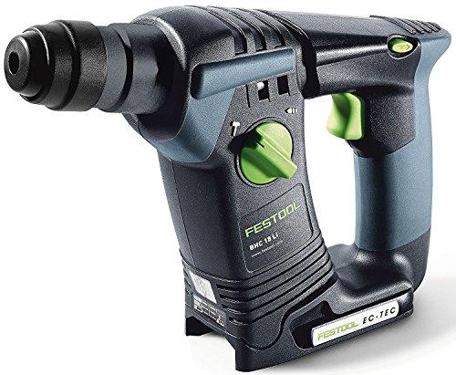 Festool BHC 18 Akku-Bohrhammer BHC18 Li-Basic Herstellernr. 574723, 18 V, Schwarz/Grün