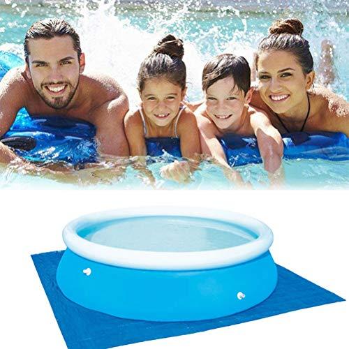 Oulian Schwimmbecken Matte Pool Grundtuch Bodenmatte Pool Bodentuch Schwimmbadmatte Faltbarer Teppich aus Polyester-Bodentuch Für Outdoor Beach Summer Party, Wasserdicht (335 * 335cm)