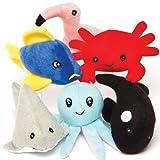 Baker Ross Peluches Vida Marina (paquete de 6) perfecto para juguetes para niños, ideal para juguetes escolares, regalos y más