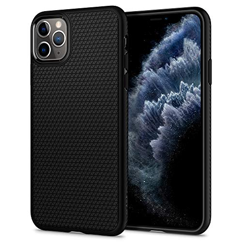Spigen Cover iPhone 11 PRO Max Liquid Air Progettato per Apple iPhone 11 PRO Max Custodia - Nero