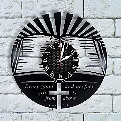 AIYOUBU Regalos Cristianos Reloj Cristiano Guardería Arte de ParedReg