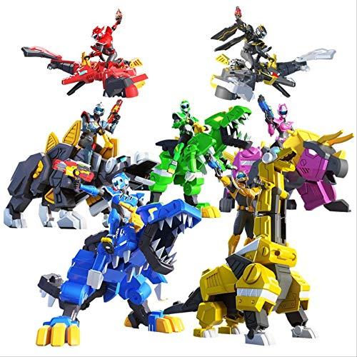 QWYU 1set Newest Force Transformation Toys Action Figures Miniforce X Simulation Animal Dinosaur Deformation Agent Toy