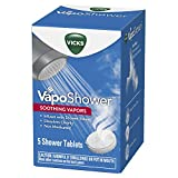 Vicks VapoShower, Shower Tablet, Shower Bomb, Aromatherapy Vapors, Eucaplytus & Menthol, Soothing Vicks Vapor Steam, 5ct