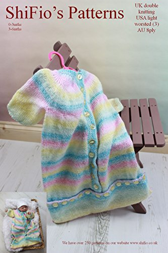 Knitting Pattern - KP207 - baby sleeping bag - 0-3mths 3-6mths (English Edition)