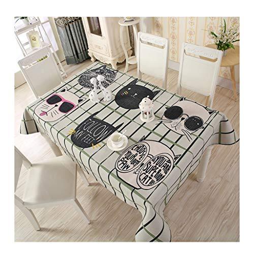 &Nappes Nappe Rectangulaire - Nappe Ménagère Coton Nappe Carrée Simple Moderne nappe de table (Couleur : C, taille : 130 * 180cm)