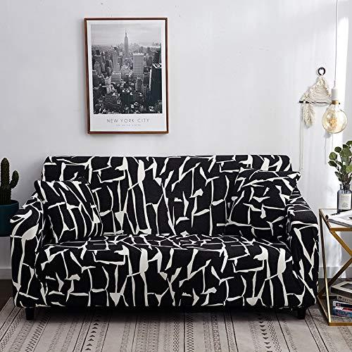 Fundas de sofá elásticas con Estampado Floral para Sala de Estar, Toalla de sofá, Funda de sofá Antideslizante, Funda de sofá elástica A22, 4 plazas