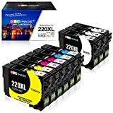 GPC Image Remanufactured Ink Cartridge Replacement for Epson 220XL T220XL 220 XL to use for WF-2750 WF-2760 WF-2630 WF-2650 WF-2660 Expression Home XP-320 XP-420 (3 Black, 2 Cyan, 2 Magenta, 2 Yellow)