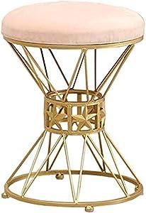 Gartenmöbel Mode Make-up-Hocker, Gepolsterter Hocker Runde Fußstütze Für Wohnzimmer Schlafzimmer Coffee Shop-Pink, 35x45 cm Küche Osmanen LEBAO (Farbe : Rosa)